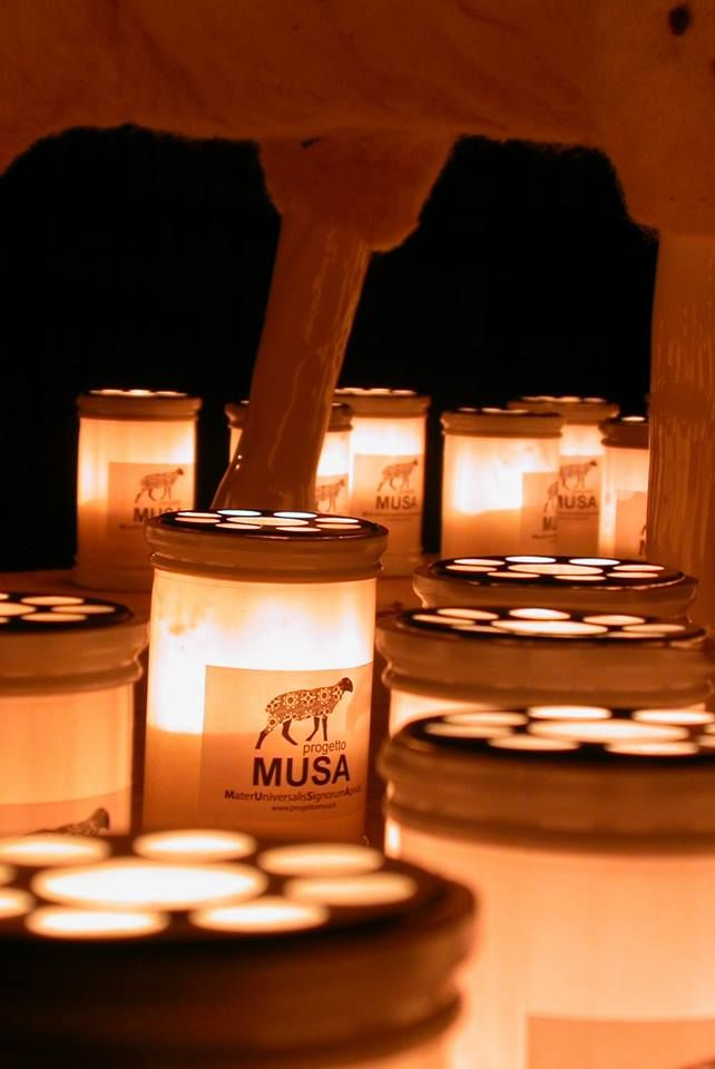 Outdoor 2013: contemporary art event in one of the most authentic medieval villages of Abruzzo, Italy.  Votive candles of MUSA Project.  #art #design #contemporaryart #italy