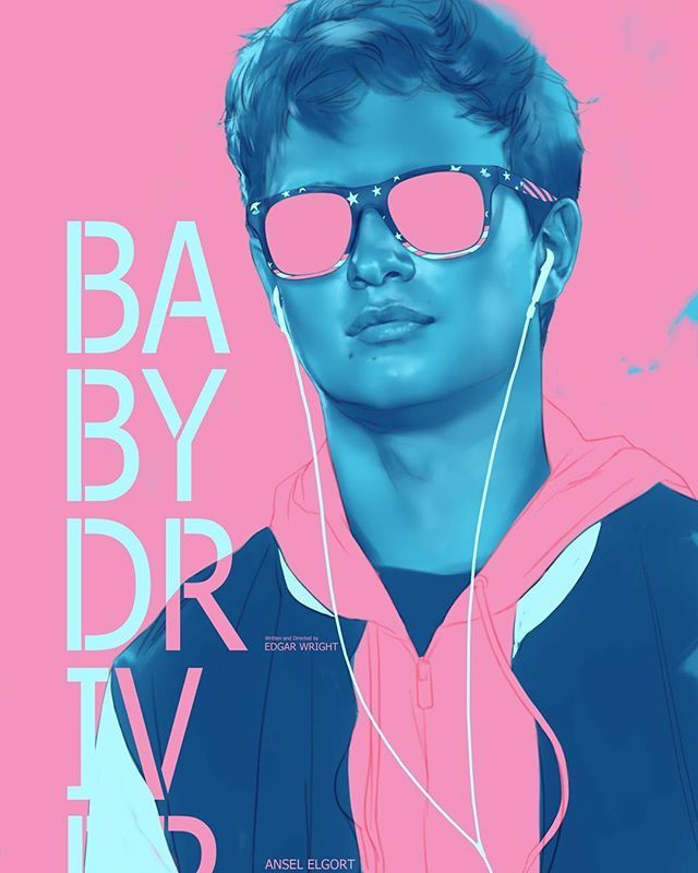 Awesome work by @benoliverart #Repost  Finally saw Baby Driver loved it. Fantastic work by @edgarwright and all involved #babydriver #babydriver #edgarwright #wow #popcultart