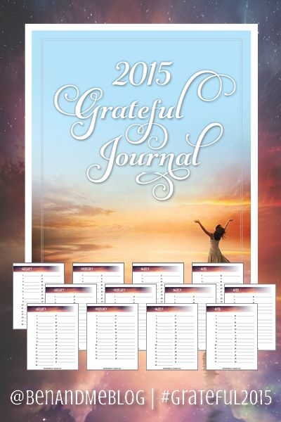 FREE Grateful Journal 2015 -- Who's willing to join me in being grateful every day in 2015? #Grateful2015
