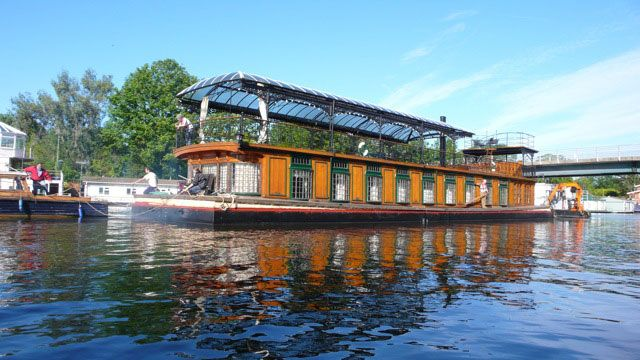 David Gilmour's Astoria Houseboat Studio on Thames River