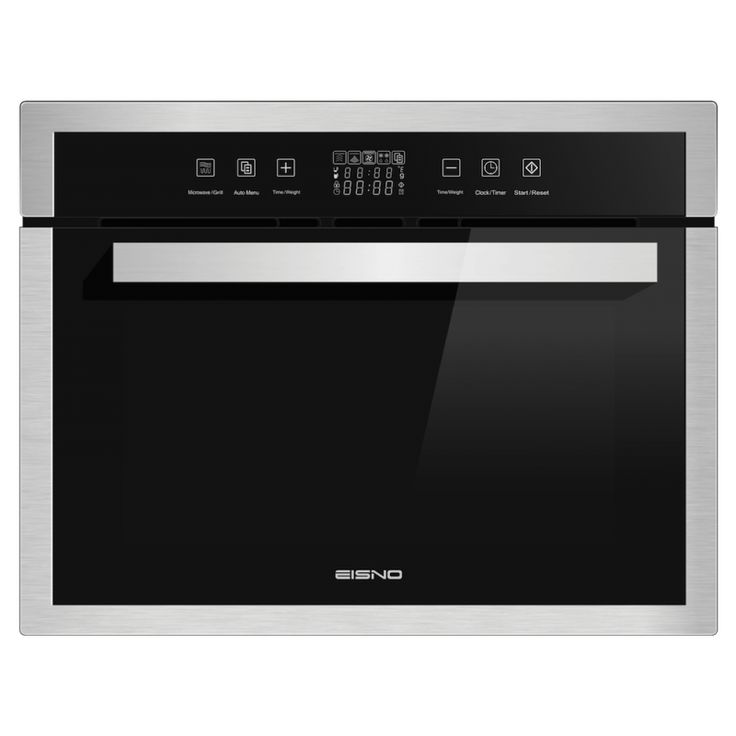 60cm Stainless Steel Multi-Function Oven and Microwave by Eisno (EIS-OV45M-03).   Unique Multi Function Built-In Oven & Microwave with Grill Functions is the answer for every kitchen.  The 35L Usage Volume has enough room for all your favourite dishes.  Its finished in stylish stainless steel and at a great price. Eisno have created their E-Aristo Range to offer affordable living, and you can't afford not to want to upgrade to one of these little beauties.