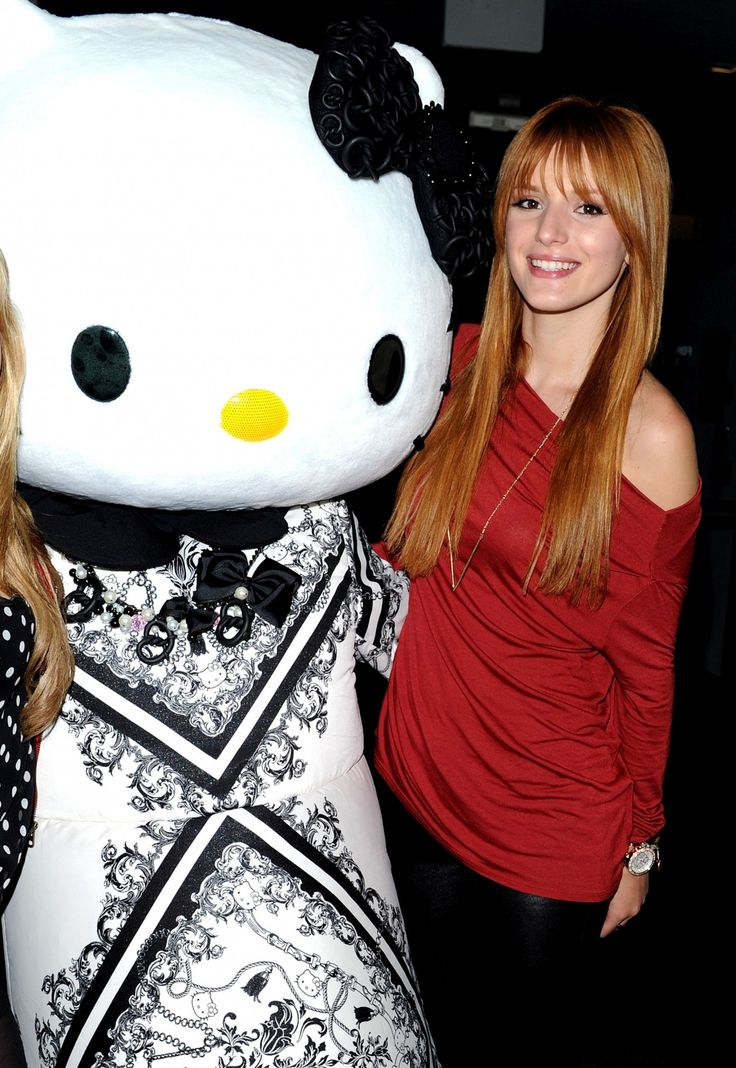 Bella Thorne with Hello Kitty