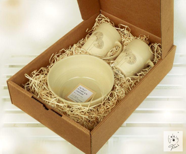My Doggy & Me Geschenkset (1 Hundenapf groß + 2 Tassen) / My Doggy & Me Gift Set (Dog bowl big + 2 mugs) #Geschenk #weihnachten #christmas #Geschenkideen #Hundebesitzer #GeschenkHundebesitzer #presents #giftideas #dogowners #hundenapf #keramik #ceramic #dogbowl