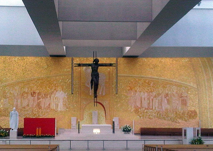 Inside cathedral of Our Lady of Fatima