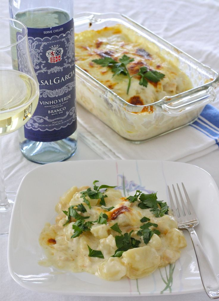 Salted Cod with Cream (Bacalhau com Natas), Portuguese food