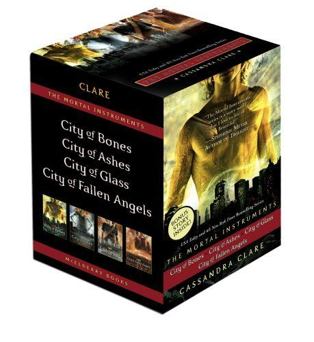 The Mortal Instruments: City of Bones; City of Ashes; City of Glass; City of Fallen Angels by Cassandra Clare #Books
