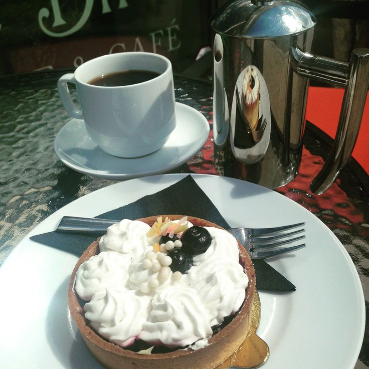 Afternoon coffee and sweets! Try one of our Saskatoon berries and cream tarts.