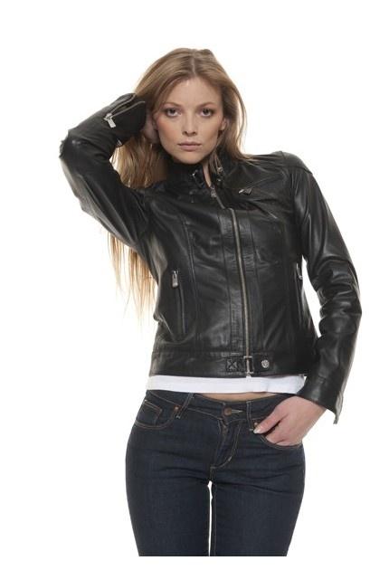 Blouson cuir femme marron oakwood 60568