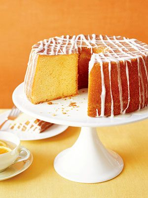 This dense, fine-textured pound cake is so rich and buttery that all you need to frost it with is a drizzle of orange icing.