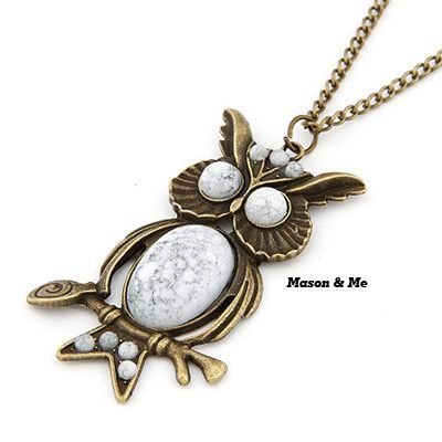 Korean Retro Fashion OWL Pendant Decorated With Imitate Kallaite Sweater Chain General. Small and catchy. REPIN if you like it.😍 Only 28.5 IDR