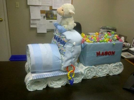 train diaper cake baby showers pinterest diaper. Black Bedroom Furniture Sets. Home Design Ideas