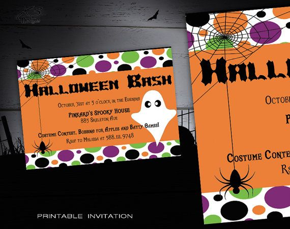 25 best Halloween Invitations Kids ideas – Custom Party Invitation
