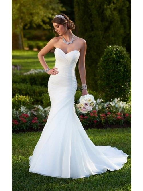 Mermaid Sweetheart Taffeta Wedding Dress
