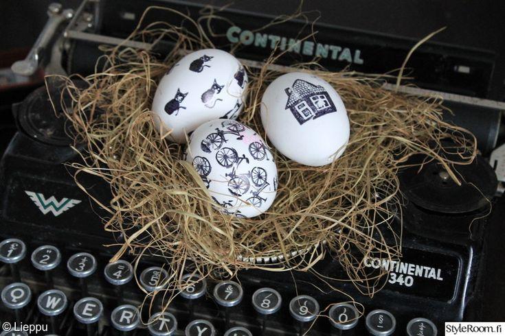 musta,mustavalkoinen,pääsiäinen,Tee itse - DIY,pääsiäiskoriste