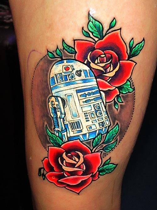 r2d2 neotraditional tattoo i made