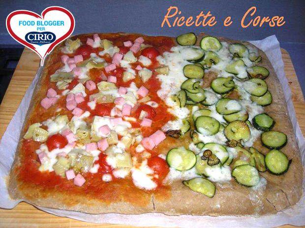 Ricetta Mezza #Pizza ai #Carciofi #Prosciutto cotto e Mezza Pizza alle #Zucchine del blog 'RICETTE E CORSE' (http://ricetteecorse.blogspot.it/) #cirio #passionefoodblogger #pomodoro #pomodori #tomato #PullUpAChair