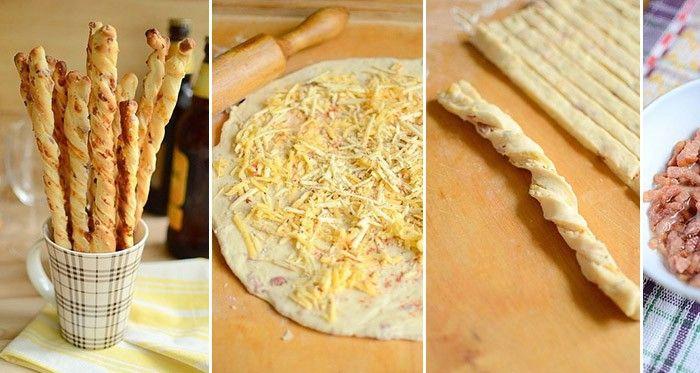Sokféle stanglit kipróbáltam már, de ez a szalonnás-sajtos stangli kelt tésztából a legkedvesebbek közé tartozik. A füstös ízű szalonna a finom sajttal együtt kiváló ízvilágot kölcsönöz ennek az otthoni rágcsának. Bár az elkészítése kicsit macerás a kelt tészta végett, szerintem megéri a fáradozást. Imádjuk, és egy adag sose elég, főleg, ha vendégsereg is érkezik a házhoz.