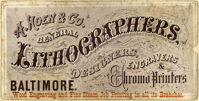 A. Hoen & Co. General Lithographers. by pantufla, via Flickr