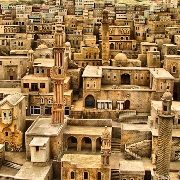 Mardin, Turkey. No trees or green anywhere. It's all stone. So different from my world