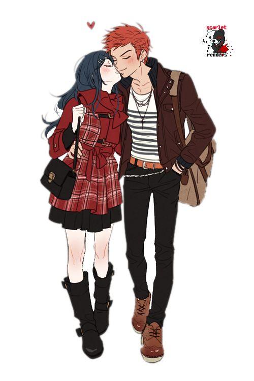 Leon Kuwata and Sayaka Maizono Render by Scarlet113.deviantart.com on @deviantART