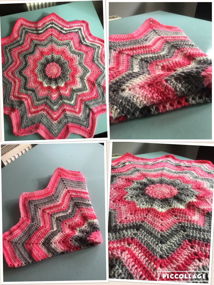 12 point star crochet blanket completed April 2016