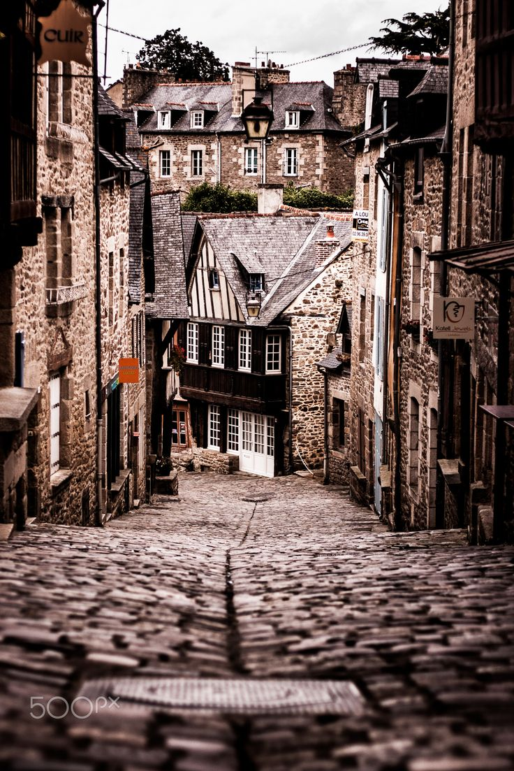 Dinan in Brittany, France