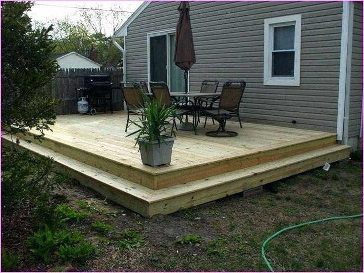 I Built A Ground Level Deck In My Back Yard Backyard Patio