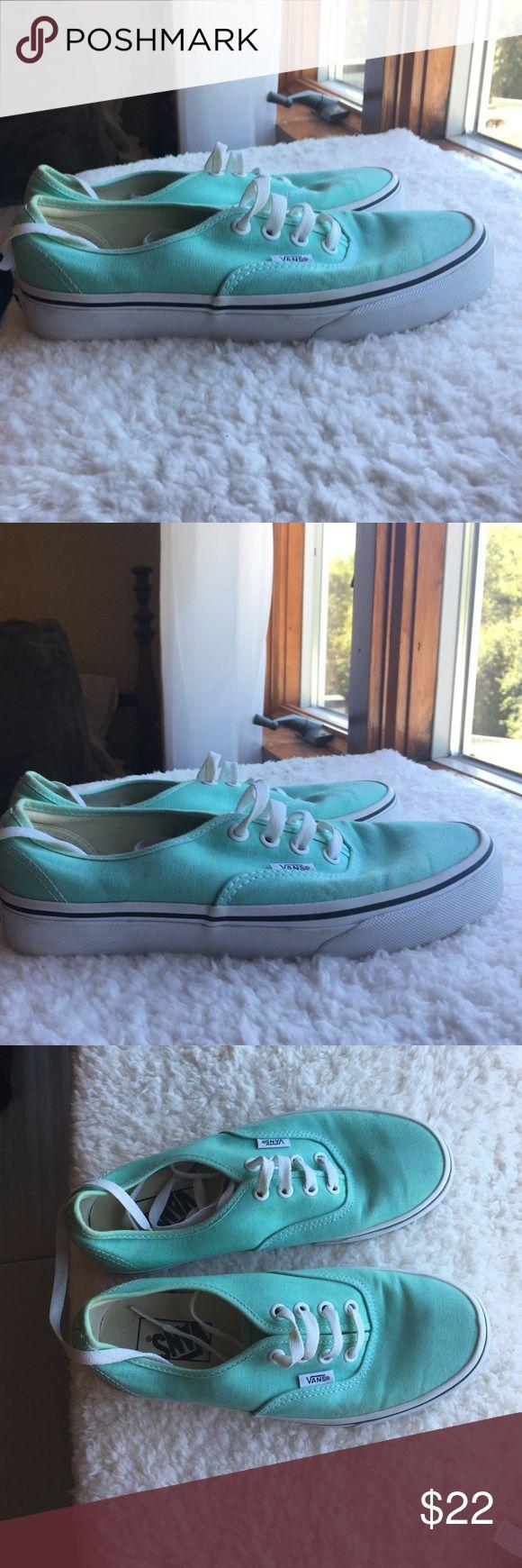 Mint vans Only worn a few times green blue vans Vans Shoes
