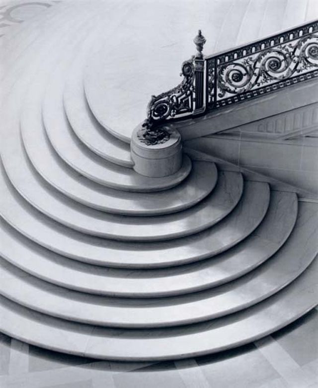 Spiral staircases.