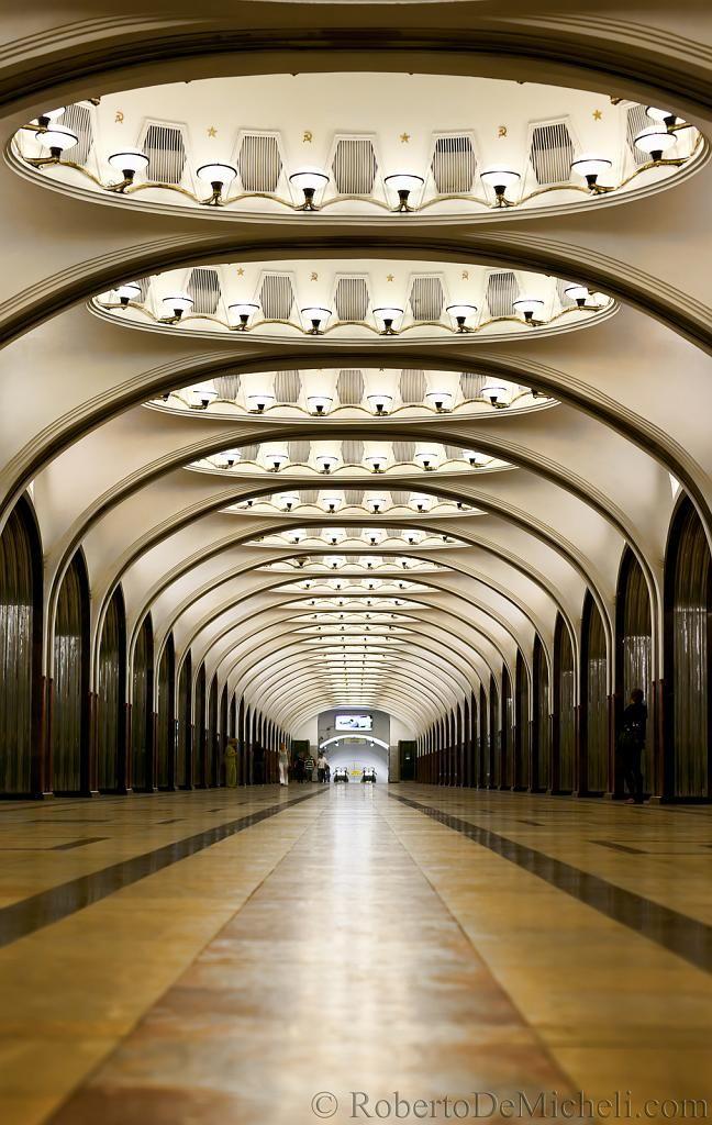 Mayakovskaya Metro Station - Moscow