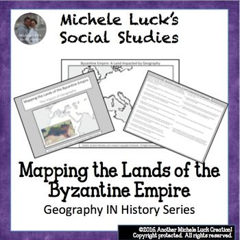 Mapping the Lands of the Byzantine Empire Activity (Part of my Geography IN History Series)This mapping activity guides students through mapping the physical features of the Byzantine Empire (Early Christian Civilization) by researching 15 different questions and topics on the region.