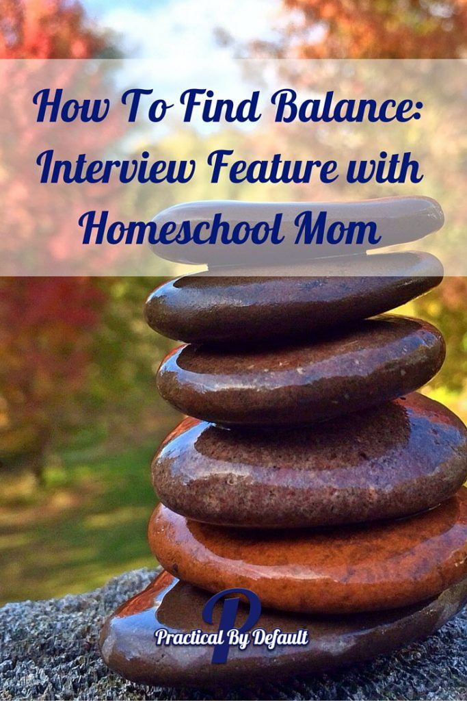 How To Find Balance: Interview Feature with Homeschool Mom. This mom homeschools 5 children, blogs and is a nursing student. Click through to read more about how she finds balance.