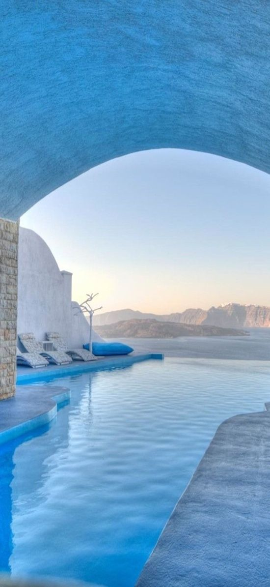 Pool at Astarte Suites #Santorini #Greece