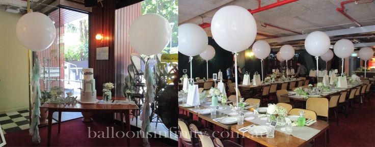 Large white latex balloons great for any event. #largeheliumballoons #large3footballoons #largepartyballoons