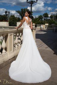 A-line chiffon wedding dress collection 2017 Tina Valerdi