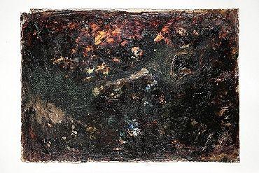 Il magmatico universo di colori finisce per uniformarsi sotto un'unica grande macchia scura. Un'immersione densa e granulosa nelle pesantezze della vita.Se volete vedere le mie creazioni venite sul mio sito http://www.marcelladonati.com