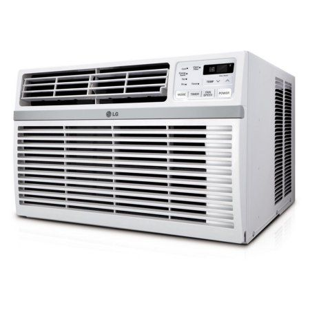 LG LW1016ER 10,000 BTU 115V Window-Mounted Air Conditioner with Remote Control, White