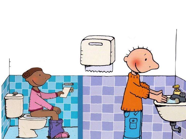 Toilet en handen wassen jules