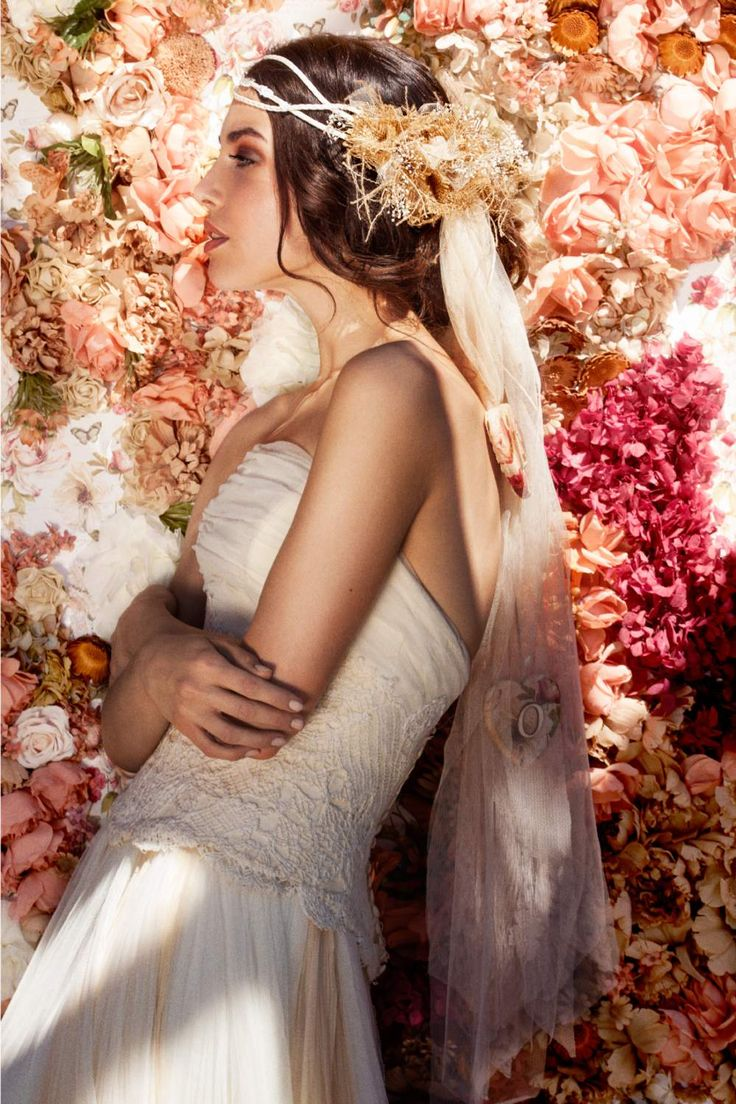 Romantische haarband - Vintage haarband - Haarjuweel - Bridal Headband - Headband vintage - Bruids haarband in kleur - Vintage bride