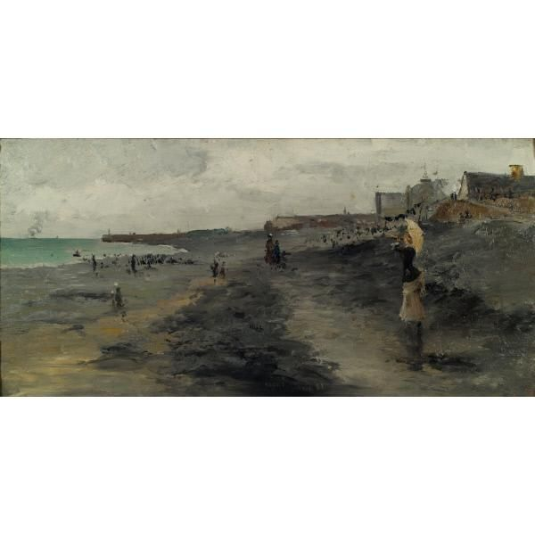 Beach by Dieppe – Works – American Art Highlights – Collections – The Huntington Art Collections Online Catalog