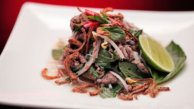 MKR4 Recipe - Lemon and Basil Cured Beef with Asian Salad
