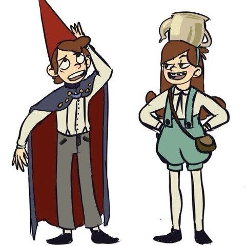 The two shows combined are amazing! Mabel is goofy like Greg and Dipper is serious like Wirt! What is happening here?