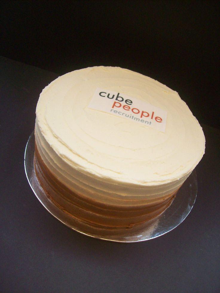 8 inch cake with logo (edible image logo) $85