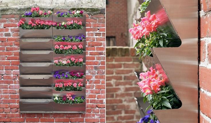 Living Wall: Modern Gardens, Vertical Planter, Living Wall, Parksid Living, Green Wall, Metals Wall, Vertical Gardens, Wall Flowers, Stainless Steel