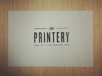 Gorgeous, simple logo - the Printery by Jake Dugard