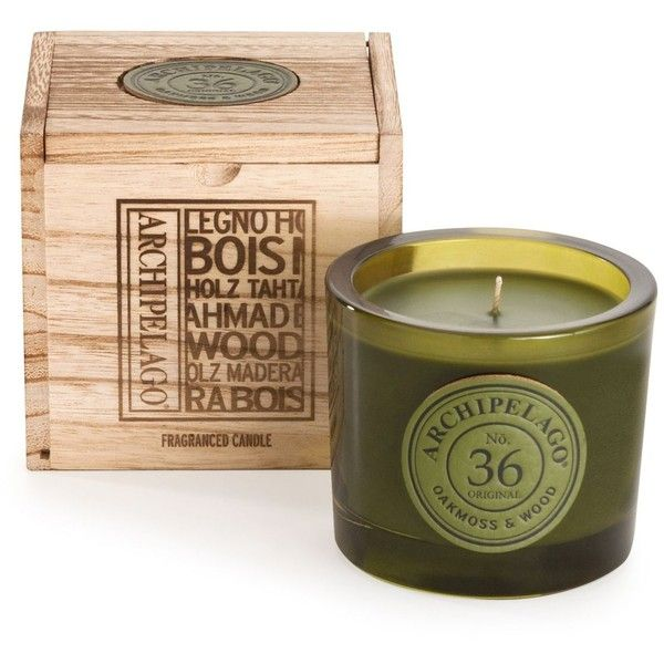 Archipelago Oakmoss U0026 Wood Wooden Boxed Candle Found On Polyvore Featuring  Home, Home Decor,