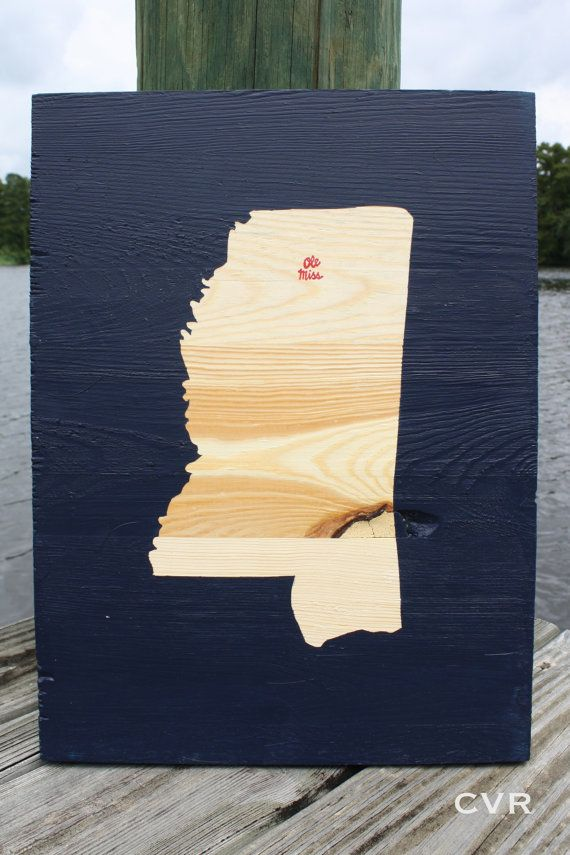 House artwork of the states we've lived in (& have taken sweet memories from)   (State Art Wooden Oxford Mississippi Ole Miss by ChevvyandRons, $40.00)