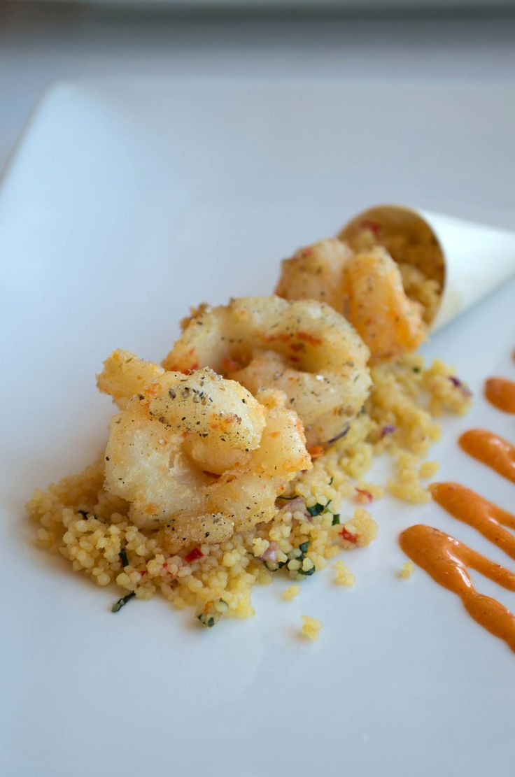 Citrus spice fried calamari at Bayviews Restaurant, Burnie - Northwest Tasmania | heneedsfood.com