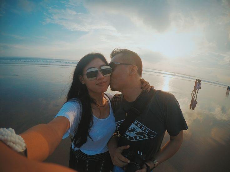 #sunset #bali #kiss #lover #ibnuprabuali #ismayani #gopro