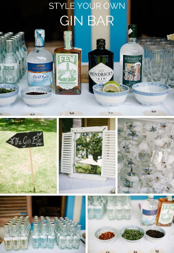 Gin Bar for your wedding? | Gin & Glam Fynbos Estate Wedding | SouthBound Bride | http://www.southboundbride.com/gin-glam-fynbos-estate-wedding-dna-photographers-robyn-grant | Credit: DNA Photographers